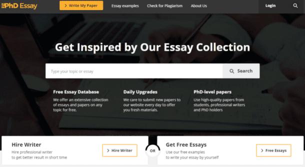 Phdessay homepage